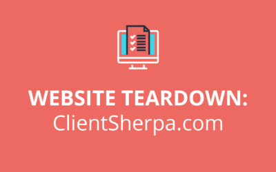 Website Teardown: ClientSherpa.com