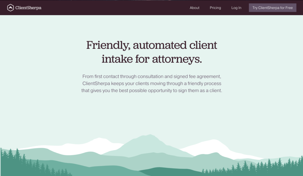 ClientSherpa's Above the Fold